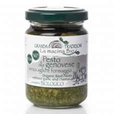 Соус песто Дженовезе со 100% Генуэзским Базиликом DOP на оливковом масле e.v. без чеснока и сыра 130 г