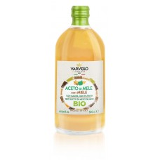 Уксус яблочный с мёдом БИО нефильтрованный 100% Итальяно 500 мл, Кислотность 5 % Varvello